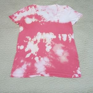 Custom Bleach Dyed J  Crew T shirt  Size M